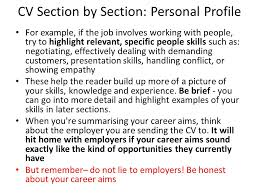 example of cv with personal profile writing an essay in english