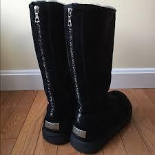 zipper ugg boots sale knightsbridge back zip uggs boot black boots uggs and black suede