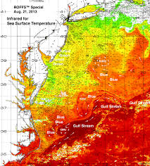 Gulf Stream Map 2013 Mid Atlantic 500 000 Conditions Roffer U0027s Ocean Fishing