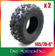 2x 145 70 6 knobby tyre fits suzuki lt50 quad bike 50cc 70cc atv 6