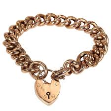 links bracelet rose gold images Antique victorian rose gold curb link bracelet heart victoria png