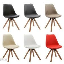 Dining Chair Eames Duhome Set Of 2 Side Dining Chairs Eames Style Wooden Leg Pu