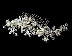 bridal hair combs striking silver floral bridal hair comb w austrian crystals 8561