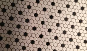 White Bathroom Tile by Black And White Hexagon Tile Floor