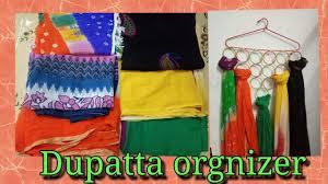 t shirt organizer diy make your dupatta u0026 scarf organizer under rs 20 youtube