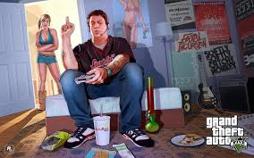 picture gta 5 grand theft auto man girls room games jeans sitting