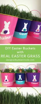 personalized easter buckets diy personalized easter buckets with real grass