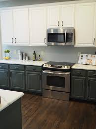 kitchen cabinets different colors top bottom new completed wallscapers
