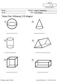2d and 3d shapes 3d shapes worksheets and math