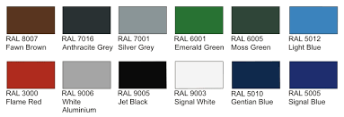 colour of 2016 ral colour options coloured canopies shelters canopies uk