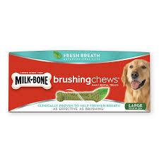 brushing chews dog dental treats for strong bones milk bone