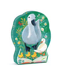 djeco ugly duckling jigsaw puzzle mr wolf toy shop