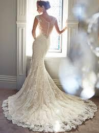 sheer low back wedding dress
