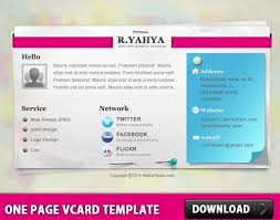 one page vcard template free psd in photoshop psd psd file