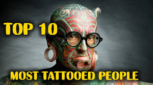 top 10 most tattooed people in the world youtube