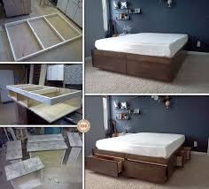 Plans For A Platform Bed With Drawers by Best 25 Platform Bed With Drawers Ideas On Pinterest Platform