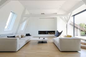 old modern modern duplex attic apartment in a century old building