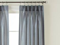 Pinch Pleat Drapery Panels Box Pleated Curtains Heading Tape Window Treatments Gallery