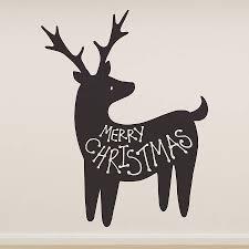 christmas reindeer merry christmas reindeer wall sticker by oakdene designs