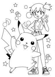 pokemon coloring pages misty pikachu and misty pokemon coloring page cartoon coloring pages
