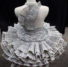 five beautiful dresses made using recycled paper dr prem u0027s life