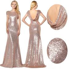 wedding dresses for of honor sparkly gold sequins bridesmaid dresses wedding 2017