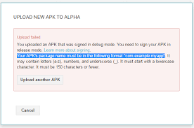 sign apk upload application on play alpha release xamarin forums