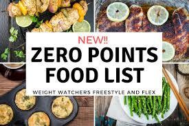 cuisine weight watchers weight watchers zero points food list freestyle plan slender