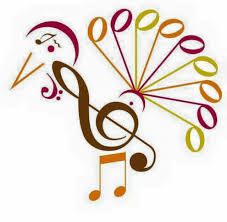 musical symbols turkey happy thanksgiving for the of