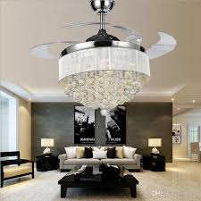Ceiling Fan With Pendant Light Led Ceiling Fans Light Ac 110v 220v Invisible Blades Ceiling Fans