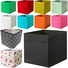 Ikea Storage Bins by New Ikea Drona Fabric Storage Box Basket For Expedit Kallax Shelf