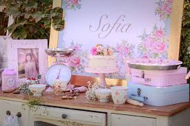 shabby chic birthday table decorations image inspiration of cake