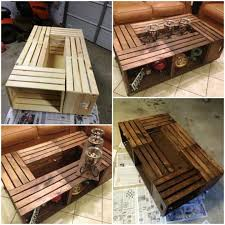 Making A Wood Table Top by How To Make A Wooden Crate Coffee Table Interior Home Design