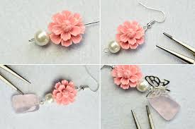 flower earrings how to make fancy resin flower earrings within 5 minutes 3 steps