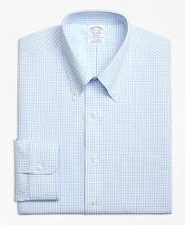 non iron regent fit dobby gingham dress shirt brooks brothers