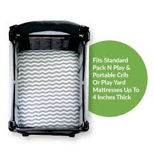 amazon com pack n play crib sheets 2 pack of grey chevron fitted