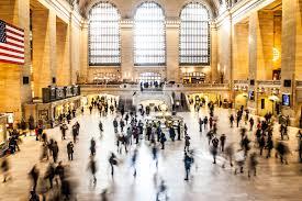 ny tourism bureau free images building york city crowd plaza station