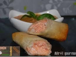 cuisiner feuille de brick saumon en feuille de brick et sa sauce cacahuète curry recette