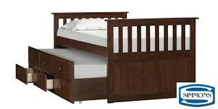 Captains Bunk Beds Mission Captain Bed With Storage Trundle