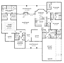 one level floor plans one story home plans with walk out basement alovejourney me