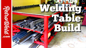 Welding Table Plans by Welding Table Build Youtube