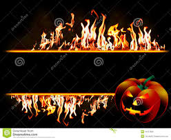 halloween banner in flames stock photo image 16157660
