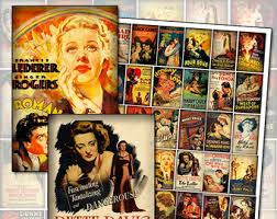 classic vintage movie posters digital collage sheet digital