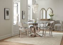 hooker dining room furniture hooker furniture dining room boheme ascension 60in zinc round