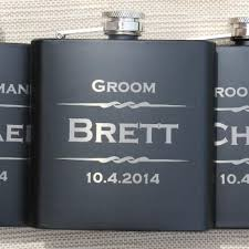 and groom flasks groomsmen flasks custom engraved 6oz black flask with gift box