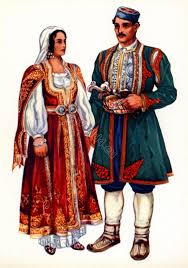 from risan in traditional montenegro national costumes