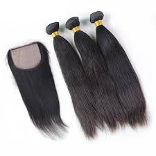 top closure silk top closure with 3pcs mink hair weaves