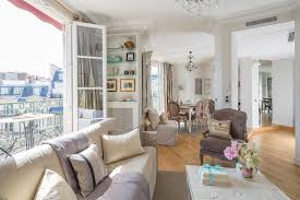 Parisian Living Room by Eiffel Tower Apartment In Paris