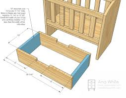 Free Wood Doll Furniture Plans by Ana White Olivia U0027s Doll Crib Diy Projects