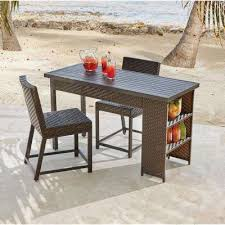 Patio Bar Height Dining Table Set Wicker Patio Furniture Bar Height Dining Sets Outdoor Bar